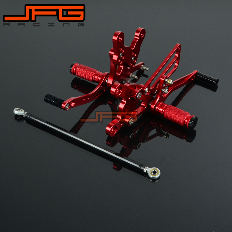Motorcycle CNC Adjustable Foot Pegs Pedals Rest Rearset Footpegs For HONDA CBR400RR 1993-1999 1993 1994 1995 1996 1997 1998 1999 kingsun rear adjustable ball joint camber control suspension arm kit for 1990 1997 honda accord acura cl tl1996 1999 blue