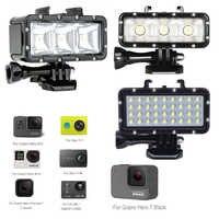 Diving LED Flash Light Underwater Video lamp For GoPro Hero7 hero5 3+4 4S for Xiaomi yi 4K Lite SJCAM SJ4000 SJ6 Mijia EKEN H9