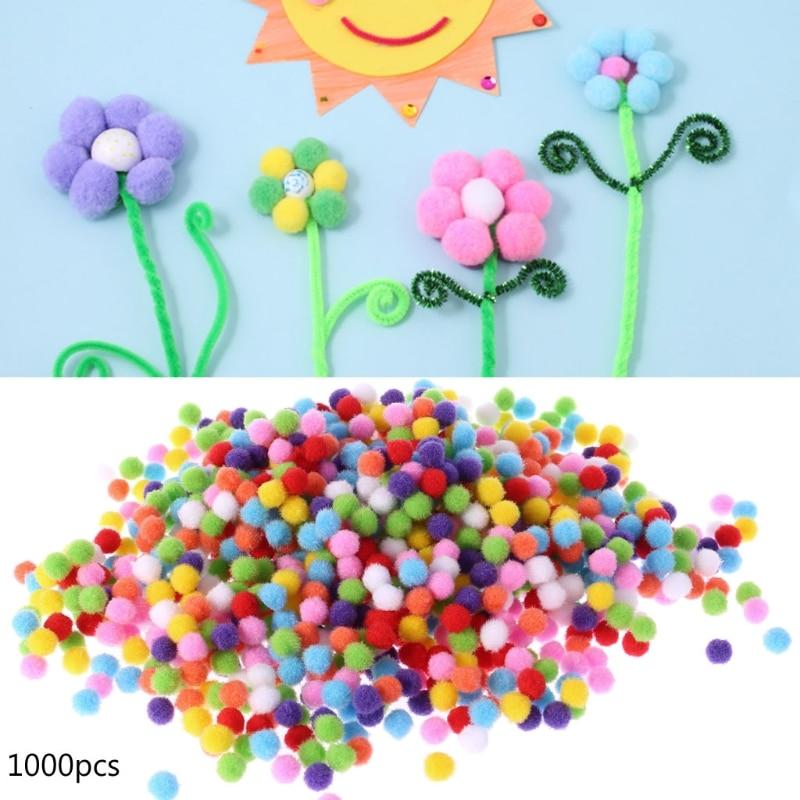 1000Pcs Soft Round Fluffy Craft PomPoms Ball Mixed Color Pom Poms 10mm DIY Craft craft джемпер мужской craft pace jersey