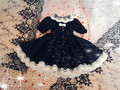 1/4 1/6 bjd clothesDoll black princess dress set customize  clothing