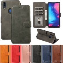 Leather case For Redmi Note7 Note5 6 pro 6A A2 Magnetic wallet Xiaomi 9 se 8 6X Flip Wallet Card Slot Stand Cover Coque
