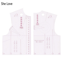 She Love 1:5 для женщин Ткань линейка дизайн одежда прототип чертеж линейки Templete школьник Teching блузка модельные инструменты