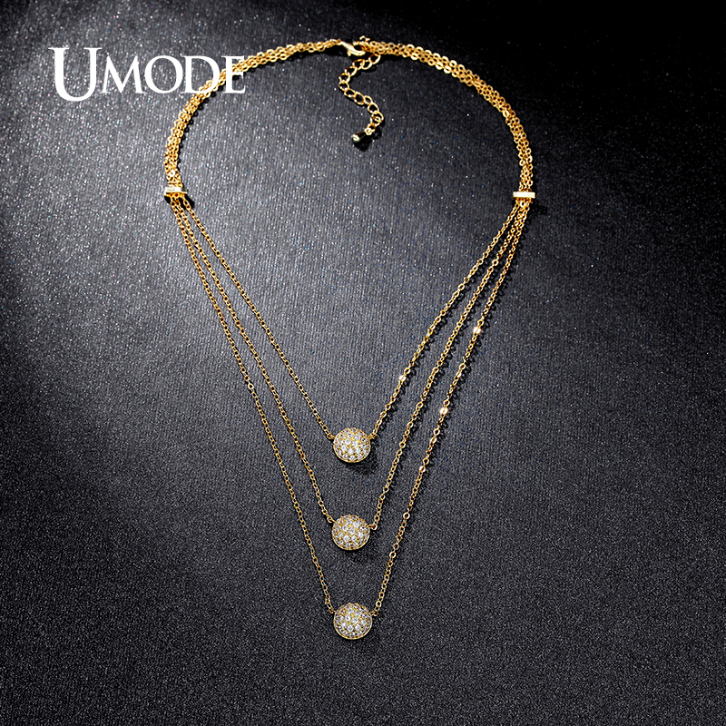UMODE New 4 Designs Multi Layered Necklaces Gold / White / Rose Gold - Fashion Jewelry - Photo 2