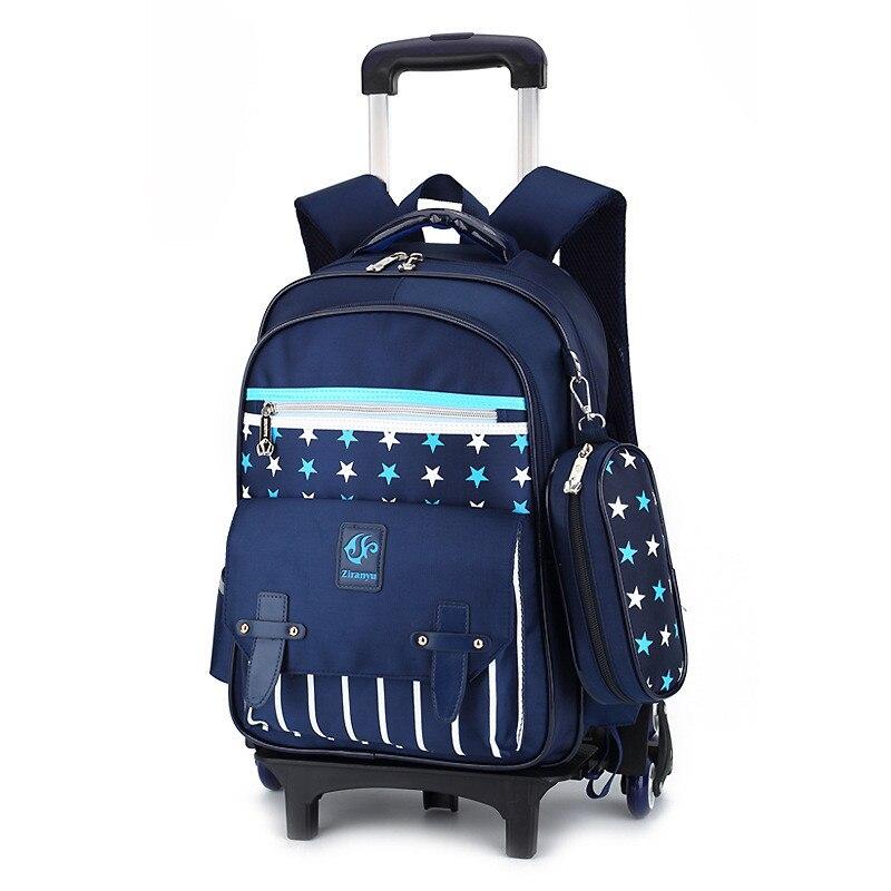Kołowe koła dla dzieci walizka podróżna na kółkach torba szkolna dla dzieci dla dzieci torba szkolna s dziewczyny chłopcy odpinany Mochila Escola w Torby szkolne od Bagaże i torby na  Grupa 1