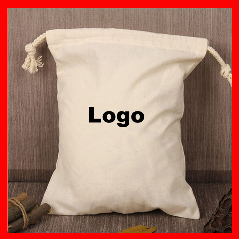 (1000pcs lot ) size eco friendly cotton drawstring bag with custom printed company  logo-in Shopping Bags from Luggage   Bags on Aliexpress.com  8b837170e458