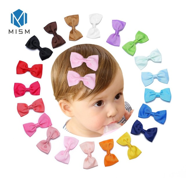 3 inch Colorful Girls Bow Clips Ribbon BB Hair Clips Children Barrettes Kids Hair Accessories Hairpins lazos de pelo para ninas