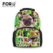 Forudesigns 2017 мода животных высокой мешок детей школьные сумки для девочек мультфильм собака печати мешок дети мешок ребенка рюкзак mochila