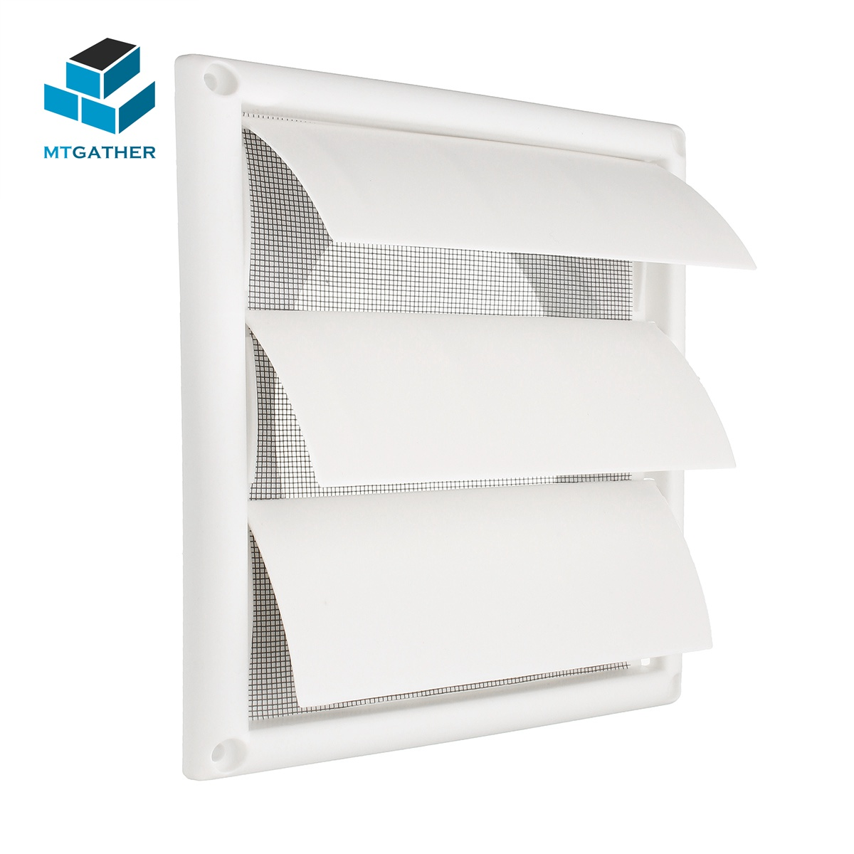 MTGATHER Air Vent Grille Ventilation Cover Plastic White Wall Grilles Duct 200x200x40mm Heating Cooling & Vents Vents vents 200x250