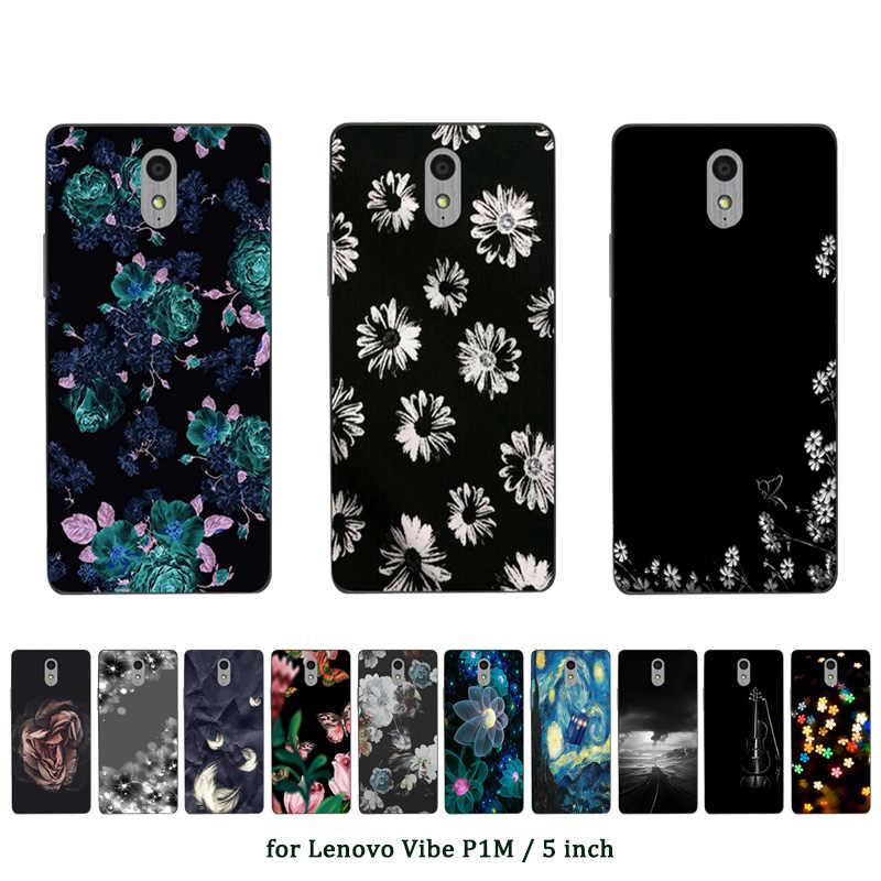 """Para Lenovo Vibe P1M caso Multicolor cubierta impresa suave cubierta TPU para Lenovo P1ma40 teléfono caso Coque para Lenovo P1 bolsa m 5,0"""""""