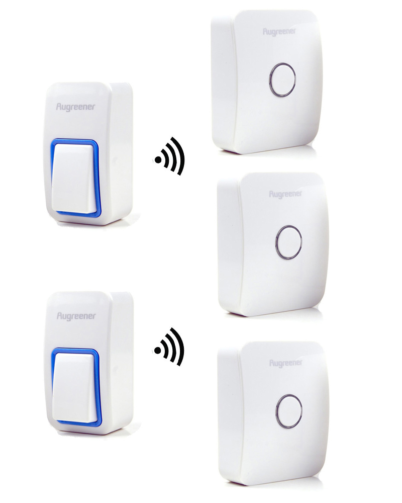 25 Tunes Wireless Remote Control Doorbell Door Bell Chime,Two Buttons and Three Receivers No need battery,Water proof, AC220V 1 transmitters 3 receivers digital self powered doorbell wireless remote long distance ac220v no need battery door bell 1v3