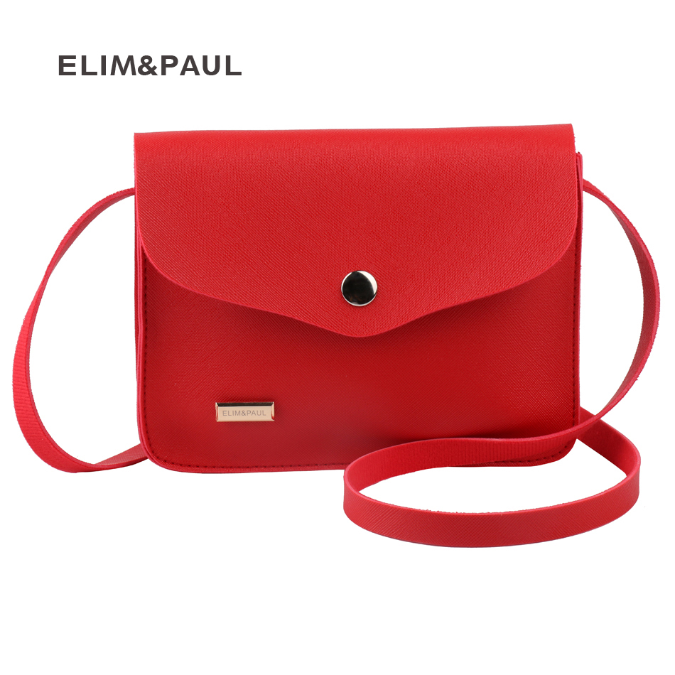 ELIM&PAUL Crossbody Bag for Women PU Leather Ladies Messenger Bags Female Mini  Bags Cute Lovely Day Clucthes Bolsas Femininas elim