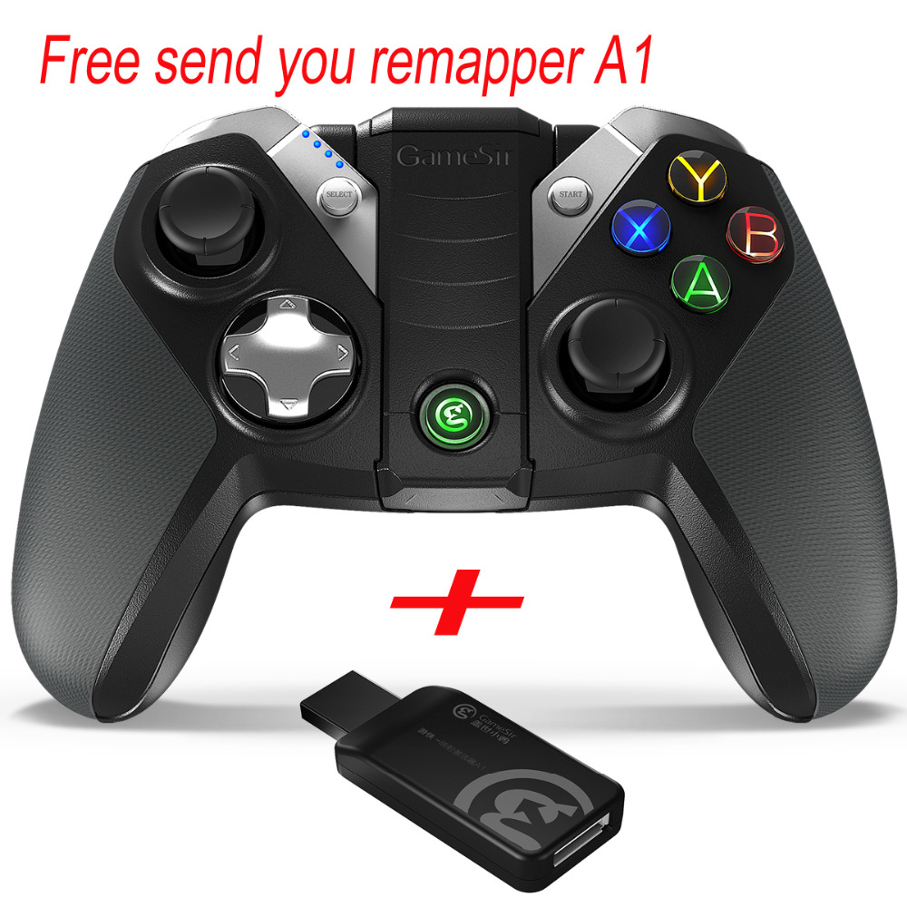 GameSir G4s 2.4Ghz Wireless Bluetooth Controller for Android TV BOX Smartphone Tablet PC VR Games Wired Gamepad for PC
