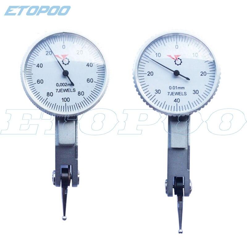 0-0,2mm Hebel Präzision 0,002mm Ebene Messuhr Skala Precision Metric Schwalbenschwanz Schienen 0-0,8mm 0,01mm Messuhr Ausgezeichnet Im Kisseneffekt