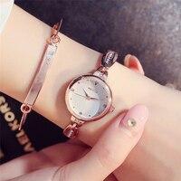 2017 Fashion Women Watches Stainless Steel Bracelet Watch Ladies Luxury Rhinestone Rose Gold Girl Cute Wristwatches