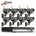 Onvif H.264 8CH NVR Video Recorder System 3TB HDD Varifocal 2.8-12mm Lens 1080P Outdoor IR Wireless CCTV WIFI Network IP Camera