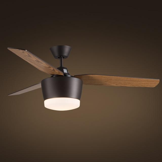 Ungdommelige 52 inch loft Plafond ventilator licht kleur dimmen loft ZG03