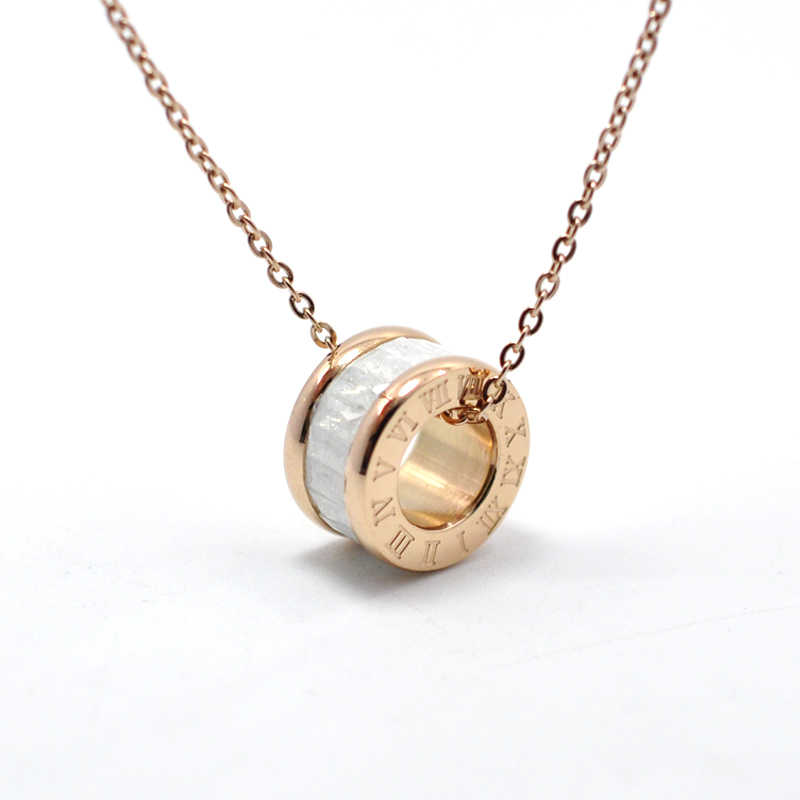 FYSARA Charming Boho Jewelry Rose Gold-Color Round Crystal Necklace For Women Chain Collar Roman Numerals Short Necklaces Gift