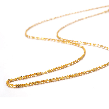 XXX 24K Pure Gold Necklace Real AU 999 Solid Gold Chain Beautiful Smooth Shiny Upscale Trendy Classic Fine Jewelry Hot Sell New 2