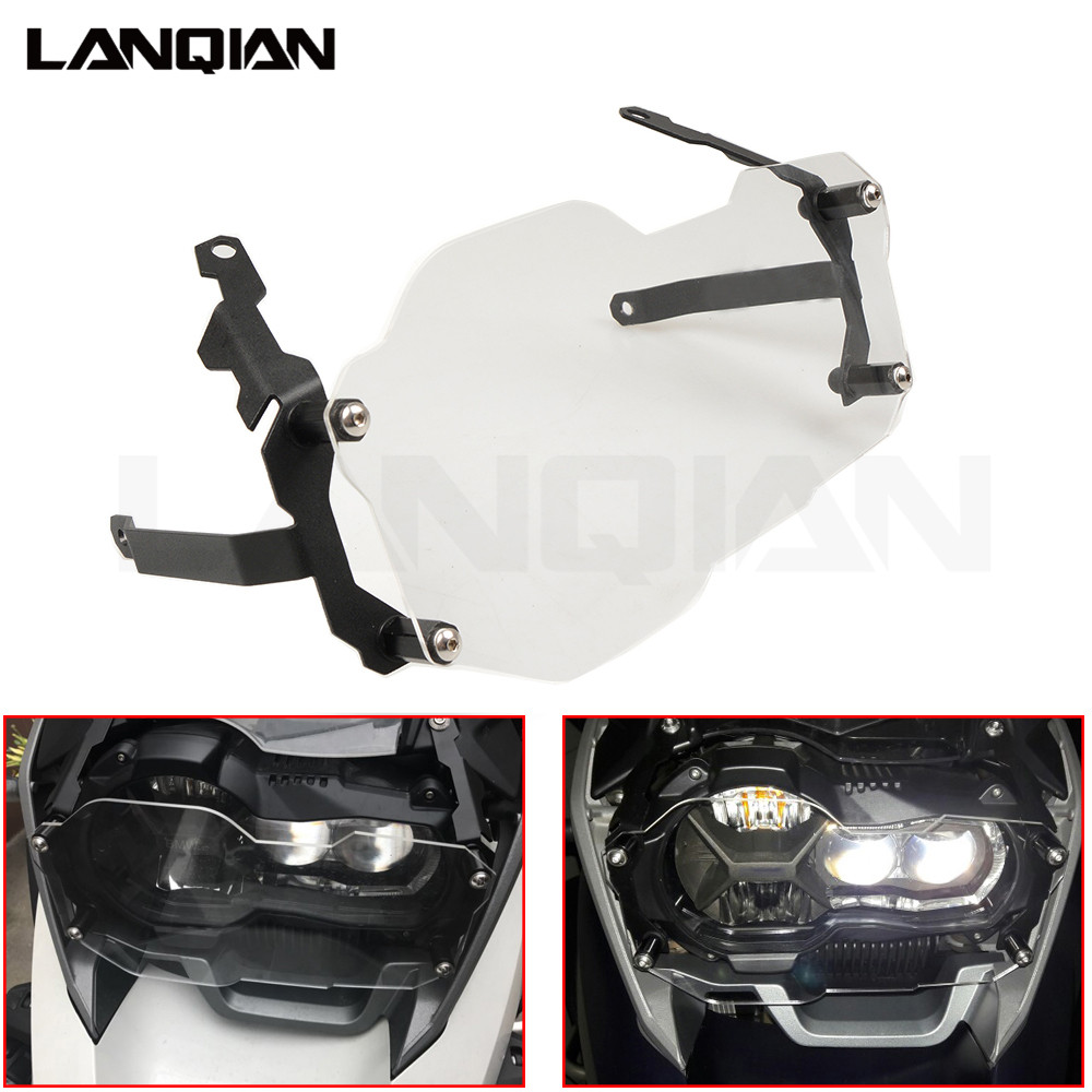 For BMW R1200GS Headlight Protector Guard Lense Cover for BMW R 1200 GS Adventure 2013 - 2018 Water Cooled Models Transparent цена