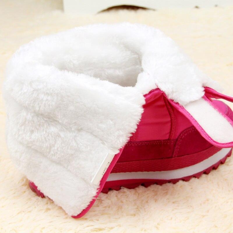 Image 4 - 冬のブーツの女性の雪のアンクルブーツ女性ホワイトレディースシューズパンプスぬいぐるみインソール防水の靴暖かいボタ Feminina    グループ上の 靴 からの アンクルブーツ の中