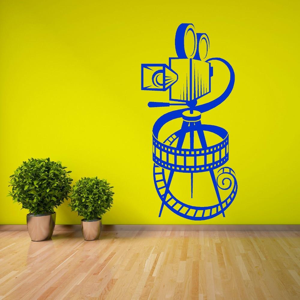 Art Design Movie Camera Film Reel Wall Sticker Home Art Interior ...