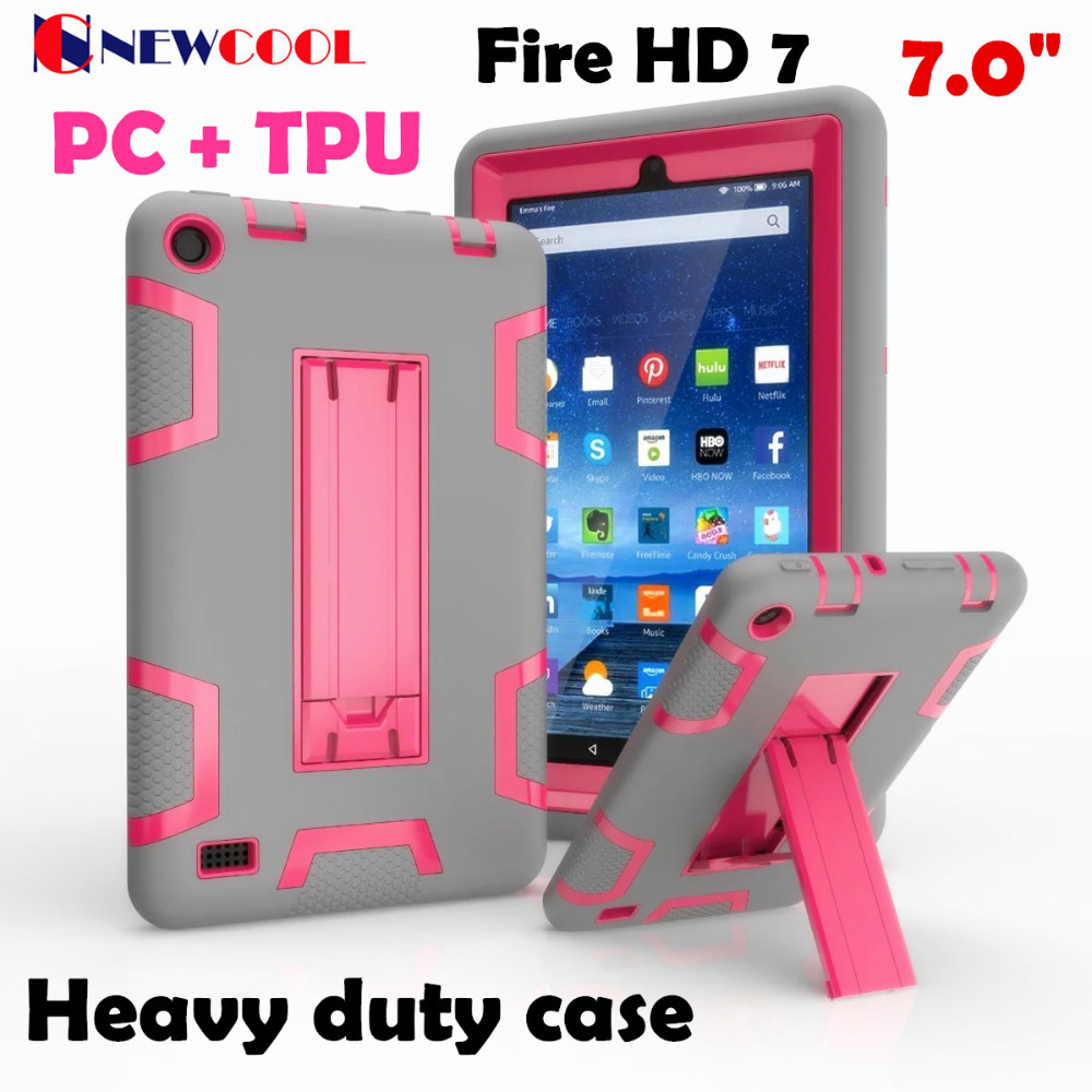 Cool Hit Color Case For Amazon Kindle Fire HD 7 HD7 2015 E-reader Tablet Case WES Heavy Duty Case Fundas Back Cover Case simple wool felt sleeve case cover for amazon kindle paperwhite2 kindle 499 for amazon kindle voyage 6inch tablet bag s4b05d