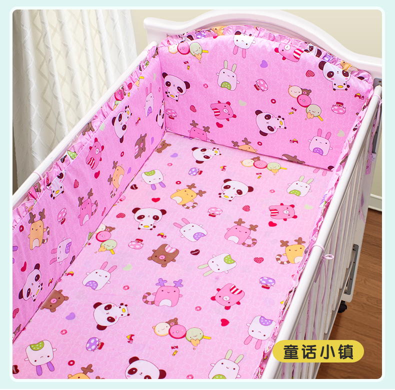 Promotion! 5PCS 100% cotton Cot bedding set unpick and wash baby quilt cover baby bedding set,(4bumper+sheet) spirulina and lactobacillus sporogenes for aquaculture