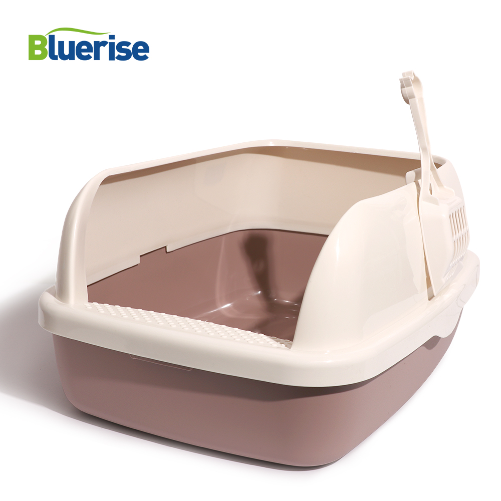 Bluerise Semi-closed Cats Toilet Anti-splash Durable Restroom For Cats Sandbox Cat Toilet Training Cats Convenient Tray For Pet