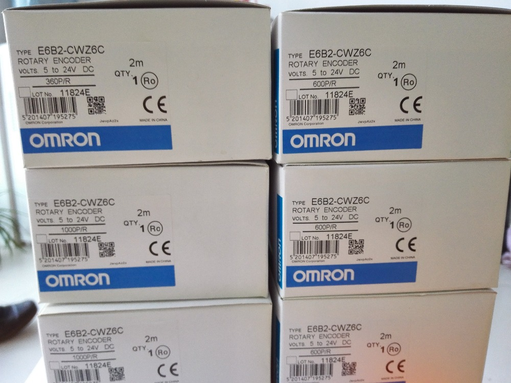 Image 5 - Free Shipping E6B2CWZ6C OMRON Rotary Encoder E6B2 CWZ6C 20 30 40 60 100 200 360 400 500 600 1000 1024 1800 2000 2500P/R 5 24v-in Switches from Lights & Lighting