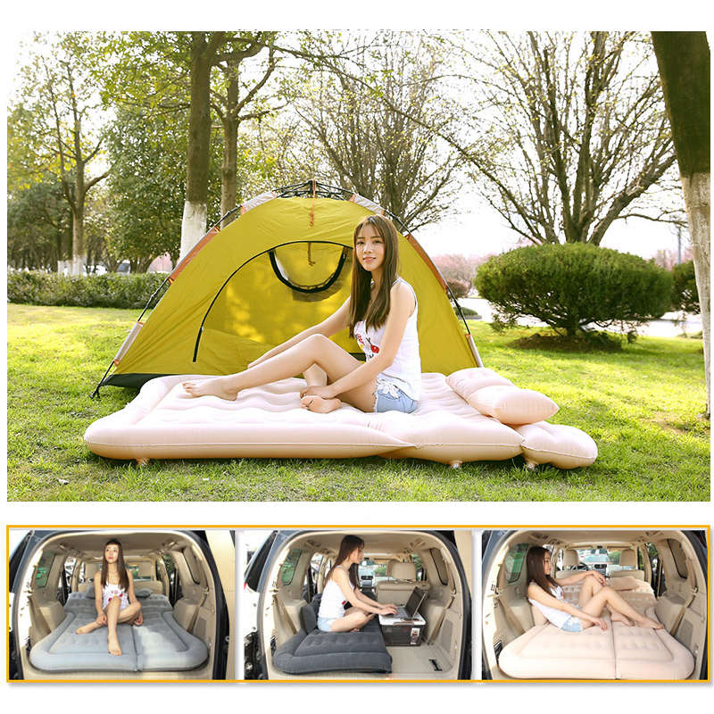 Air Inflation Car Travel Camping Bed Car Back Seat Mattress for SUV Adults kids With Car Electric Air Pump in Car Travel Bed from Automobiles Motorcycles