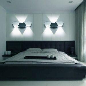 Image 2 - Lâmpada de parede led de 3w/9w, lâmpada para teto em forma de ondas, alumínio, para corredores, para banheiro, 110v 220v jq