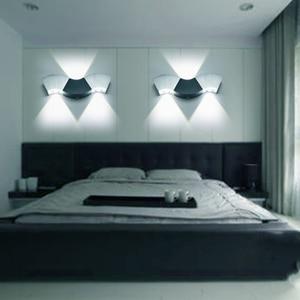 Image 2 - Led Wall Lamp Light 3W 9W Aluminum Sconces Wave Shape Ceiling For Hall Bedroom Corridor Restroom Bathroom 110V 220V JQ