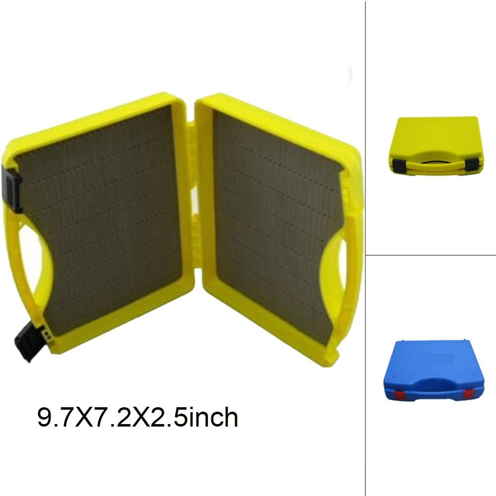 Aventik Plastic Click Lock Dry Wet Nymph Streamer Fly Box Fly Carrying Case Fly Fishing Boxes