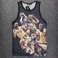 Nueva Tank Top 3D NBA Stringer Culturismo Hombres Camisa Chaleco Sin Mangas de Entrenamiento de Fitness NA-118