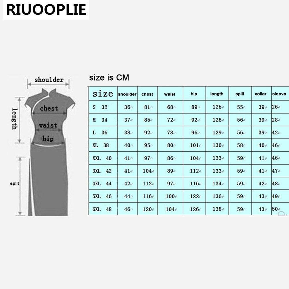 RIUOOPLIE Kinesisk stil kjole kvinner Long Cheongsam Elegant Slim - Nasjonale klær - Bilde 2