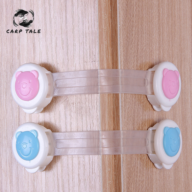 1PCS/Set Baby Safety Cabinet Locks & Straps Plastic Lock For Children Wardrobe Child Protection Blocker Baby Safety Drawer Lock