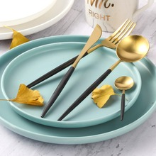 Lekoch 4PCS/ Set Cutlery Set Stainless Steel Fork Spoon Knife Flatware Set Adults Plating Kitchen Dinnerware Set Christmas Gift