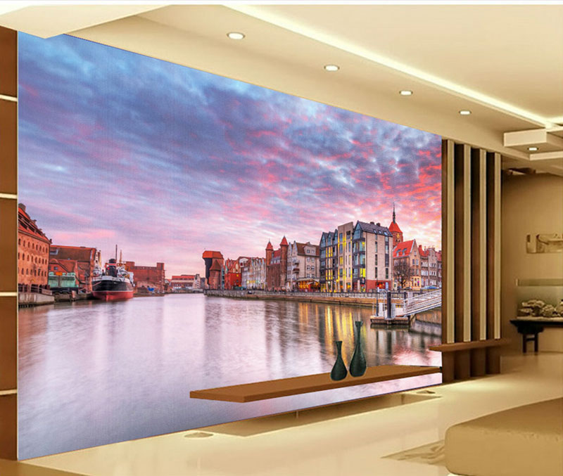 Customize 3D Photo Beautiful Wallpaper River Scenery Murals for Sofa TV Background Wall Bedroom 3D Wallpaper Living Room Mural large decorative painting flowers 3d mural wallpaper for bedroom living room sofa relief tv background wall