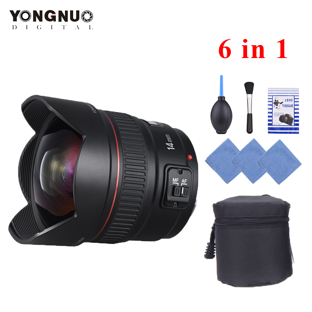 YONGNUO 14mm F2 8 Ultra wide Angle Prime Lens YN14mm Auto Focus AF MF Metal Mount
