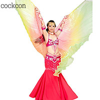 Gradient Colors Belly Dance Costume Professional Dancing Isis Wings 9 Colors WY2703