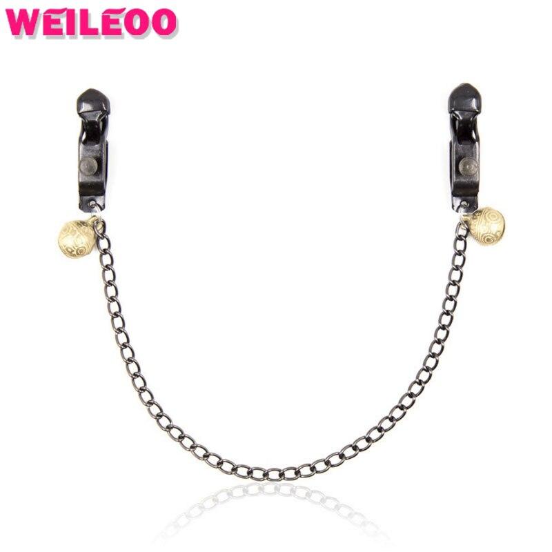 black strong nipple clamp chain bell fetish adult slave game erotic bdsm bondage font b sex