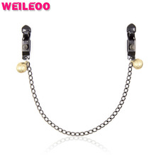 black strong nipple clamp chain bell fetish adult slave game erotic bdsm bondage sex toy for