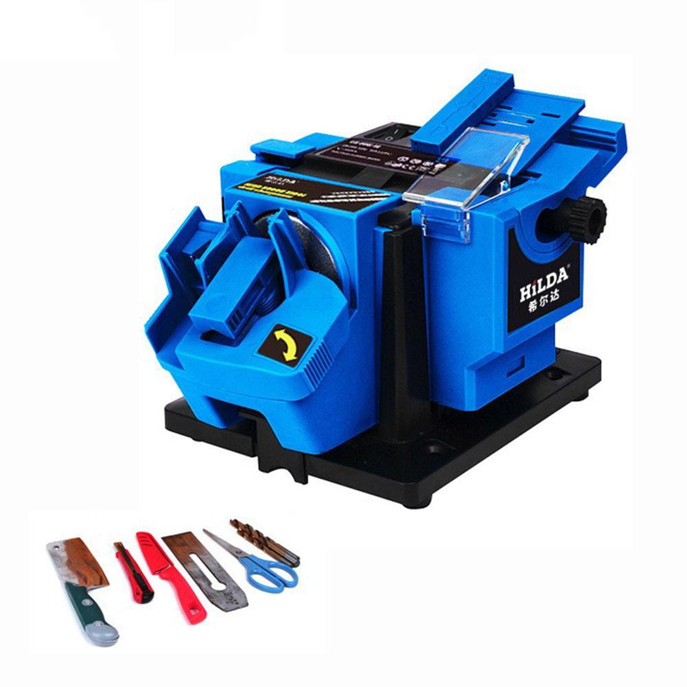 LanLan Multifunction Electric Sharpener Drill Sharpening Machine Scissor Sharpener Power Household Grinding Tools EU plug electric multifunction knife sharpening sharpener grinding knife drill sharpener electric drill bit sharpener