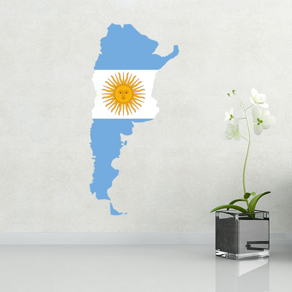 Flag map of argentina wall vinyl sticker custom made home decoration wall sticker wedding decoration pvc