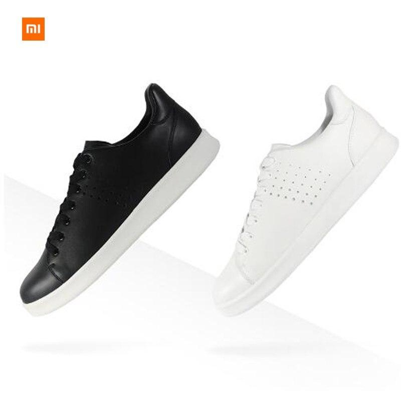 Original Xiaomi MIJIA FreeTie cuir Skateboard hommes chaussures anti-dérapant mode loisirs soutien puce intelligente (non inclus)