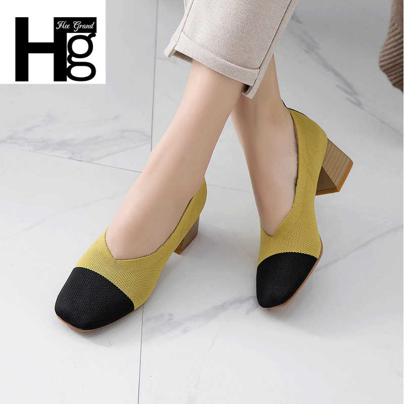 HEE GRAND 2018 Comfort Casual Woman Loafers Flats Slip On Woman Outside Spring Autumn Flock Cotton Fabric Shoes XWD7128