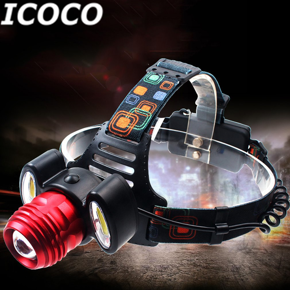 ICOCO Portable COB Long Range LED Headlight With Adjustable Light Multifunctional Head N ...
