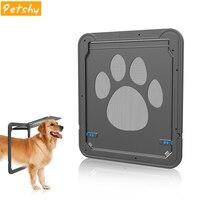 Petshy Lockable Pet Dog Cat Door Security Flap Door Plastic Gates Door Safe Flap Door Pet safety products