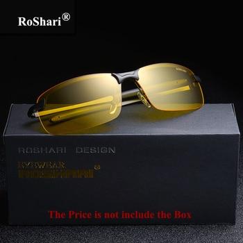 Men Sunglasses Yellow Night Vision Anti-Glare Polarized Driving Glasses Driver 1