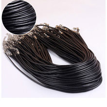Simple Black Leather Rope Necklace DIY Accessories for Women Around 48 cm(China)
